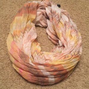 Infinity scarf - multi colored with chevron stripe